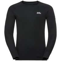 Men's Adam Long-Sleeve Base Layer Top, black, large