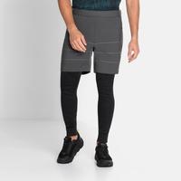 Men's MILLENNIUM S-THERMIC Shorts, odlo graphite grey, large
