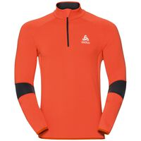 Midlayer 1/2 zip DIOXIDE, orangeade - odlo graphite grey, large