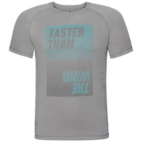 T-shirt m/c AION, grey melange with print FW17, large