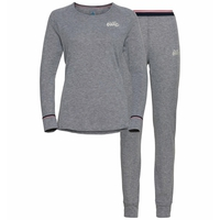 Completo Base Layer ACTIVE WARM da donna, grey melange, large