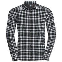 Camicia a manica lunga FAIRVIEW da uomo, climbing ivy - snow white - black - check, large