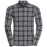 Men's FAIRVIEW Long-Sleeve Shirt, climbing ivy - snow white - black - check, large