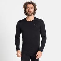 Men's ACTIVE THERMIC Long-Sleeve Base Layer, black melange, large