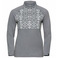 Pull à col zippé PAZOLA RIBBON pour femme, grey melange - graphic FW20, large