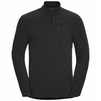 Men's ROY 1/2 Zip Midlayer, shale grey - black stripes, large