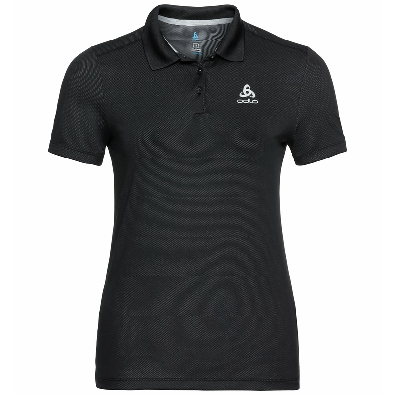 Women's F-DRY Polo Shirt, black, large