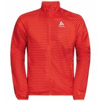 Jacket ELEMENT LIGHT PRINT, mandarin red - aura orange, large