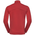Midlayer con 1/2 zip SAIKAI da uomo, red dahlia, large