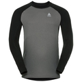 SUW Top Active Revelstoke Warm langärmeliges Oberteil mit Rundhalsausschnitt, black - odlo steel grey, large