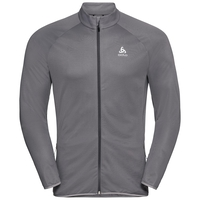 FLI Midlayer, odlo graphite grey - odlo concrete grey - stripes, large