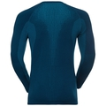 SUW Top Crew neck l/s PERFORMANCE Warm, poseidon - blue jewel, large
