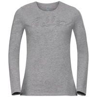 BL TOP Crew neck l/s EVA, grey melange, large