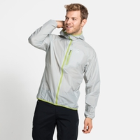 FLI WINDPROOF DWR-jas voor heren, odlo silver grey, large