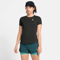 Women's ZEROWEIGHT ENGINEERED CHILL-TEC Running T-Shirt, black melange, large