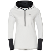Hoody midlayer BACK TO GYM, white - black, large