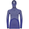 Women's BLACKCOMB Long-Sleeve Base Layer Top with Face Mask, clematis blue - tradewinds - clematis blue, large