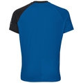 Stand-up collar s/s 1/2 zip MORZINE ELEMENT, energy blue - black, large