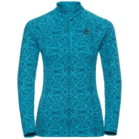 Midlayer 1/2 zip GOD JUL, algiers blue AOP, large