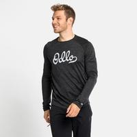 T-shirt à manches longues CONCORD pour homme, dark grey melange - odlo graphic SS21, large
