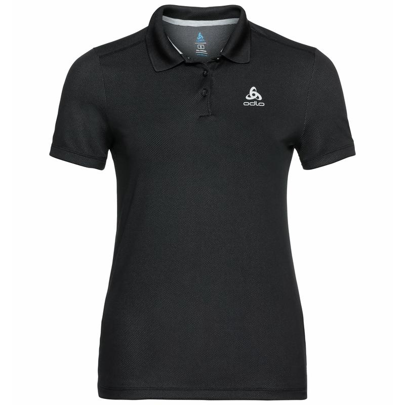 Damen F-DRY Poloshirt, black, large