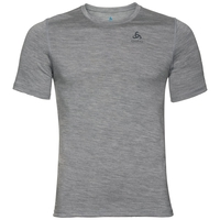 NATURAL 100% MERINO WARM-basislaag-T-shirt voor heren, grey melange - grey melange, large