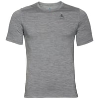 NATURAL 100% MERINO WARM T-Shirt, grey melange - grey melange, large