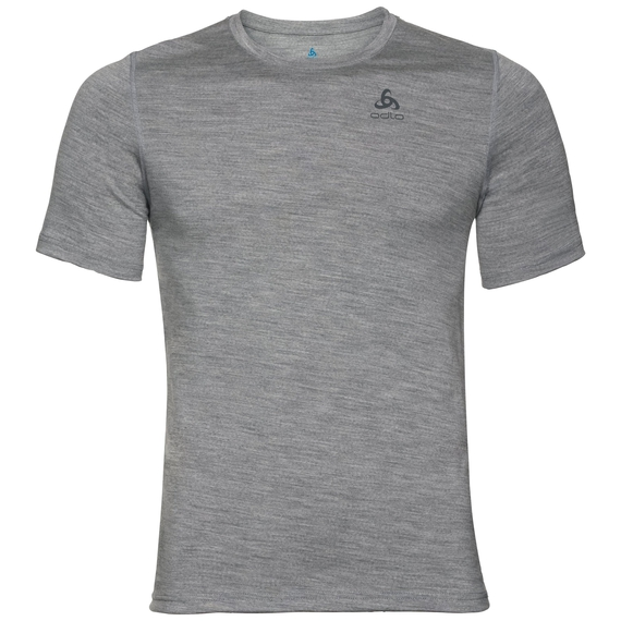 Herren NATURAL 100% MERINO WARM Funktionsunterwäsche T-Shirt, grey melange - grey melange, large