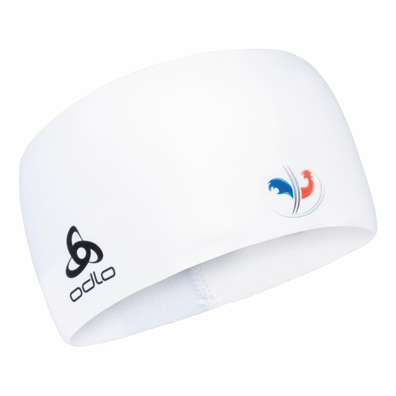 COMPETITION FAN WARM Headband, France Fan White, large