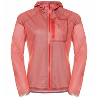 Wasserdichte Damen ZEROWEIGHT DUAL DRY Laufjacke, hot coral, large