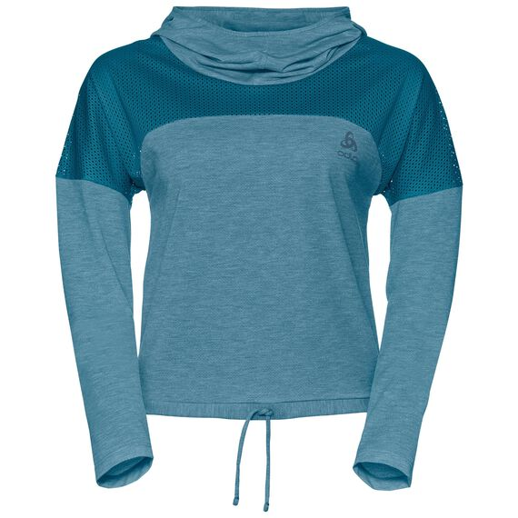 Hoody midlayer MAIA, crystal teal, large