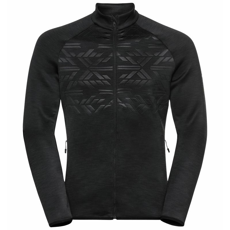Men's CORVIGLIA KINSHIP EM Mid Layer Top, black, large