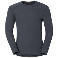 Men's ACTIVE WARM Long-Sleeve Base Layer Top, india ink, large