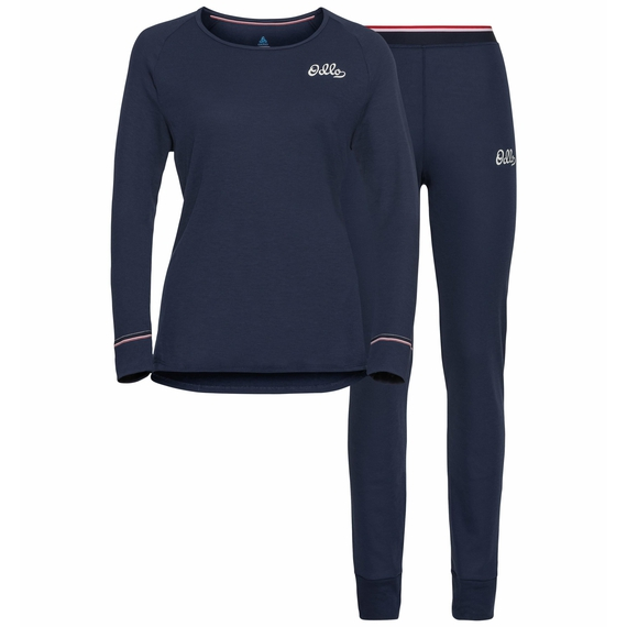 ACTIVE WARM-basislaagset voor dames, diving navy, large