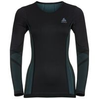 SUW Top Crew neck l/s PERFORMANCE WINDSHIELD XC Light, black - blue radiance, large