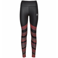 Women's ZEROWEIGHT Running Tights, black - placed print SS20, large