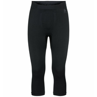 Men's PERFORMANCE WARM ECO Baselayer 3/4 Pants, black - odlo graphite grey, large