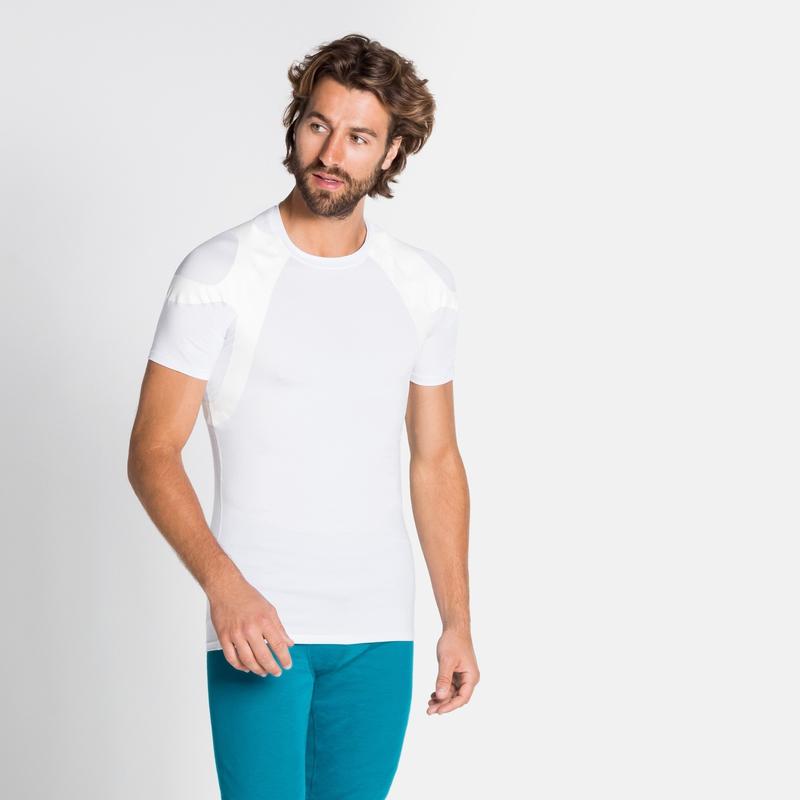 Herren ACTIVE SPINE LIGHT Base Layer T-Shirt, white, large