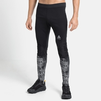 Herren ZEROWEIGHT WARM REFLECTIVE Tights, black - reflective graphic FW20, large