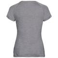 CONCORD Baselayer T-Shirt, grey melange - flower leaf print SS19, large