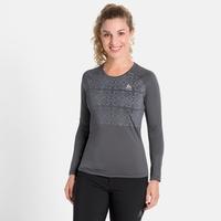 Tee-shirt technique à manches longues NILLIAN pour femme, odlo graphite grey - graphic FW20, large