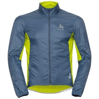 Men's ZEROWEIGHT Cycling Jacket, bering sea - safety yellow (neon), large