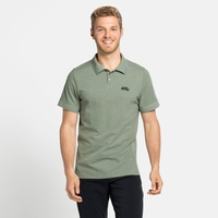 Men's NIKKO Polo Shirt, matte green melange, large