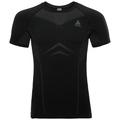 T-shirt de sport PERFORMANCE EVOLUTION pour homme, black - odlo graphite grey, large