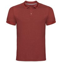 Polo k/m NIKKO DRY, chili oil - red stripes, large