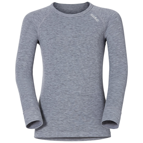 SUW Top Crew neck l/s ACTIVE ORIGINALS Kids, grey melange, large