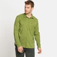 Camicia a manica lunga Nikko Check da uomo, macaw green - climbing ivy, large