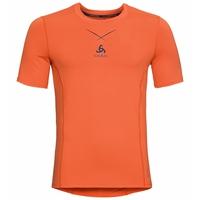 (Shirt s/s crew neck) Ceramicool, orangeade - blue opal, large