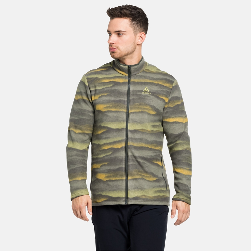 The Roy Graphic mid layer zip, deep depths, large