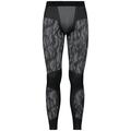 Men's BLACKCOMB Base Layer Pants, black - odlo steel grey - silver, large